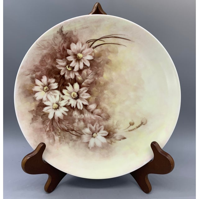 1940s Hand Painted Floral Decorative Wedding Plates - Set of 7 For Sale - Image 9 of 13