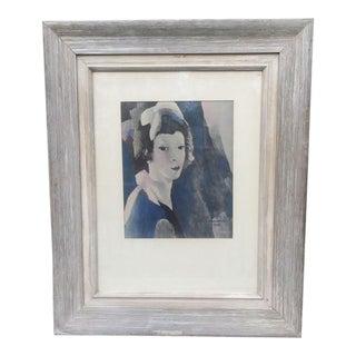 Marie Laurencin 1928 Portrait Reproduction Print For Sale