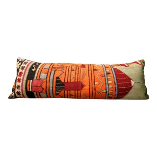 Ekrems Castle Vintage Kilim Lumbar Pillow For Sale
