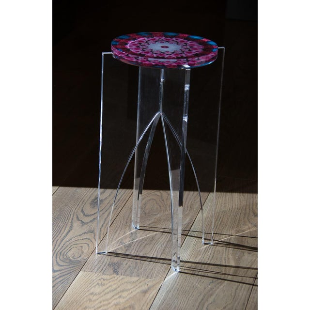 A fun collection of Hand made Acrylic Mandala Tables from The Flora Fractalis series. Javier, inspired by the cycle of...