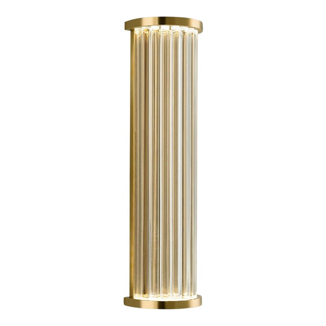 Mid-Century Modern Criterion Polished Brass Wall Light For Sale - Image 3 of 4
