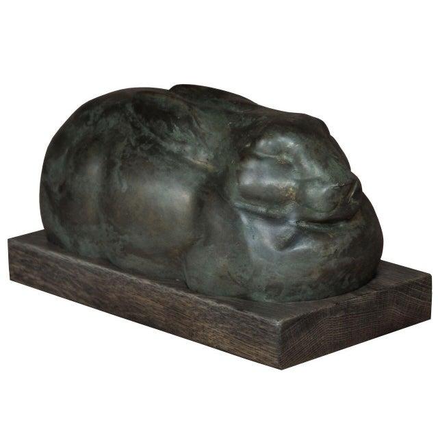 Sarreid Ltd Art Deco Iron Rabbit - Image 2 of 2