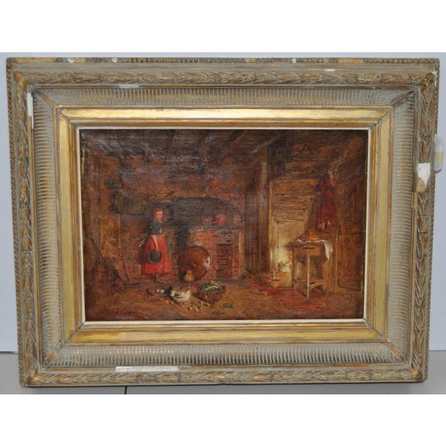"""Alfred Provis """"Young Domestic"""" Original Oil Painting - Image 2 of 10"""