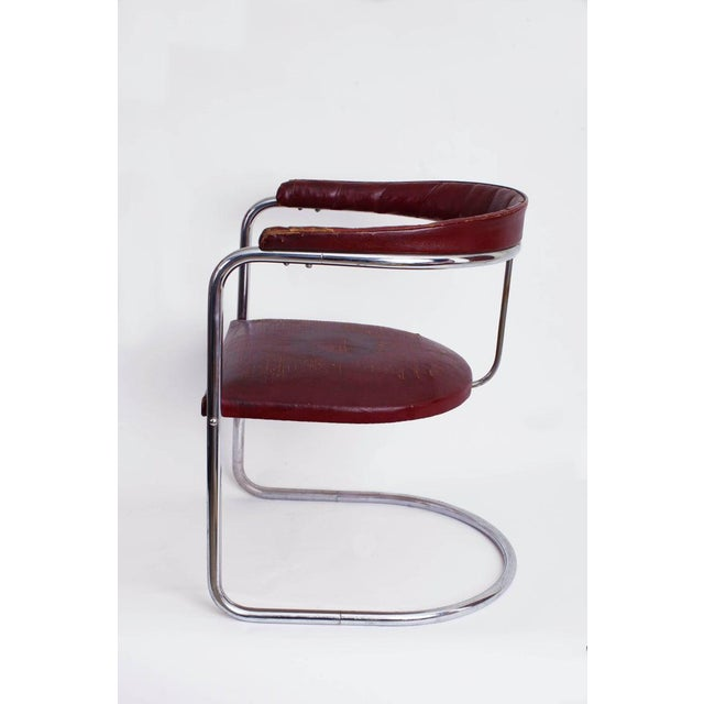 1930s 1930s Vintage Anton Lorenz for Thonet Cantilevered Steel Tube Ss33 Chair For Sale - Image 5 of 7