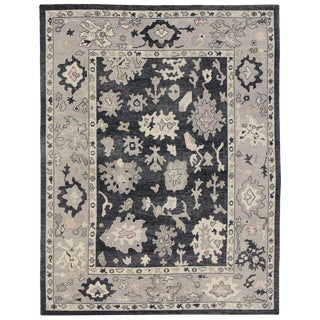 New Contemporary Turkish Oushak Luxe Rug - 9′4″ × 13′2″ For Sale