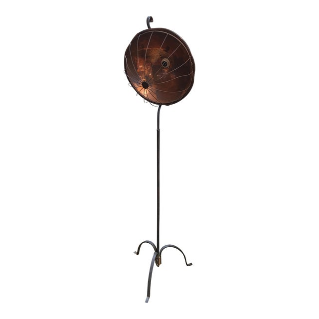 Vintage Copper & Iron Floor Lamp - Image 1 of 8