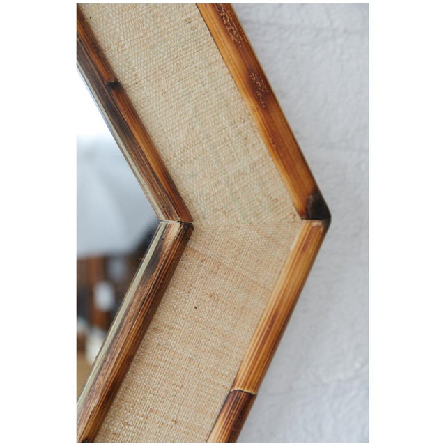Jw Limited Edition Custom Line Hexagon Bamboo Mirror For Sale - Image 4 of 5