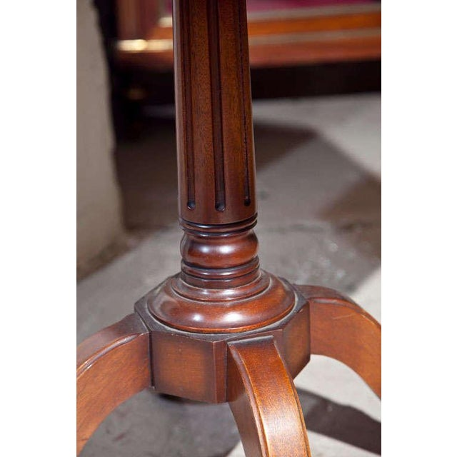 Jansen Mahogany Octagonal Two-Tier Table For Sale - Image 9 of 10