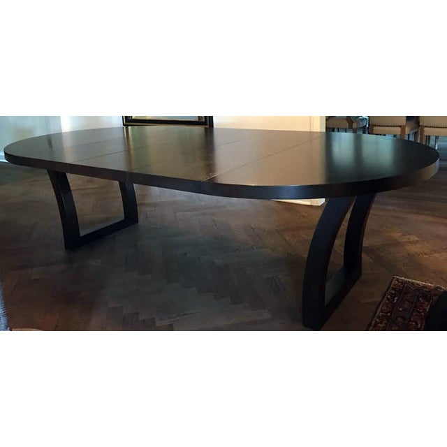 Extendable Dark Walnut Dining Table - Image 5 of 8