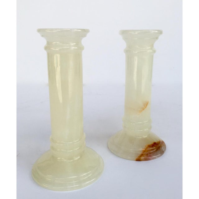 Onyx Doric Columned Candle Holders -A Pair For Sale - Image 4 of 12