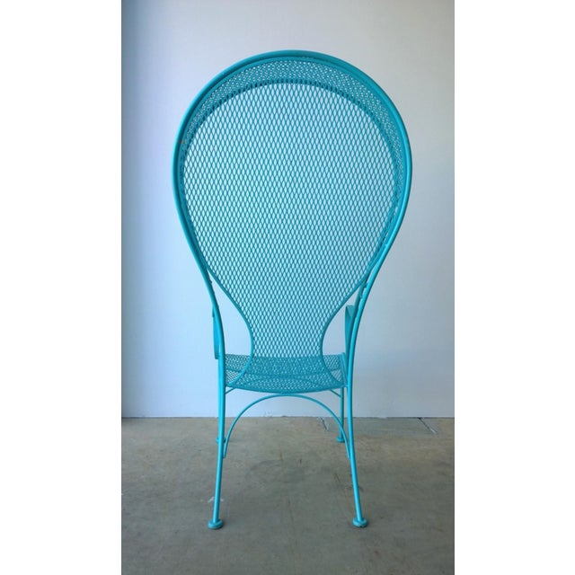 Russell Woodard Mid-Century Modern Russell Woodard Blue Canopy Patio Chair For Sale - Image 4 of 10