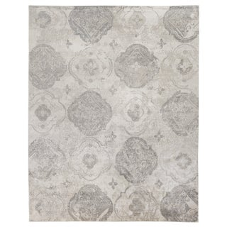 Oxford Beige/ivory Hand knotted Bamboo/Silk Area Rug - 6'x9' For Sale