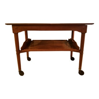 20th Century Traditional Stickley Cherry Tea Cart For Sale