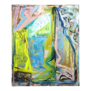 Molly Herman Colorful Abstract Painting For Sale