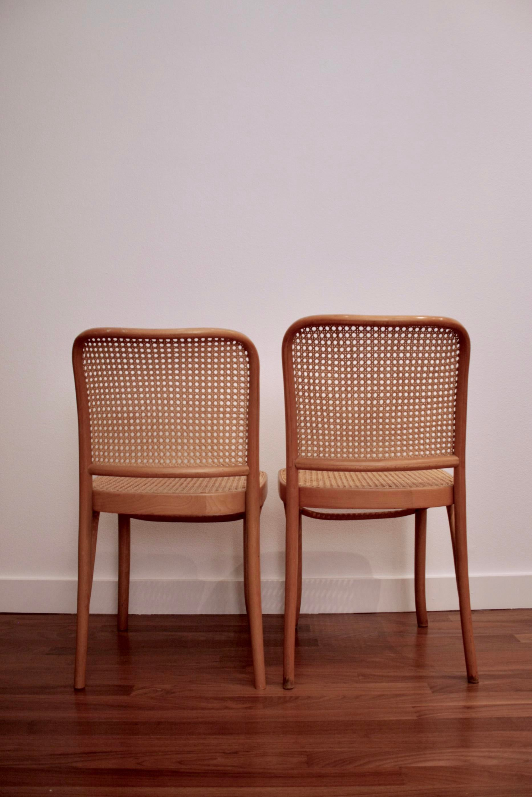 Josef Hoffmann Prague 811 Bentwood Thonet Chairs, A Pair For Sale In Dallas    Image