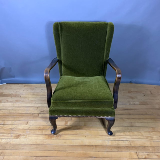 1950s Walter Knoll Mini Wingchair, Mohair, Germany For Sale In New York - Image 6 of 12
