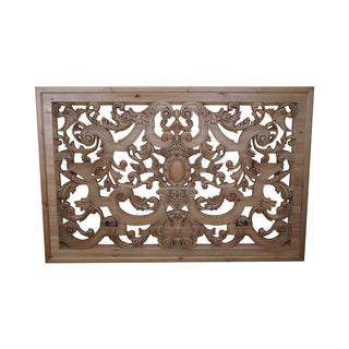Carved Wood Hanging Rococo Style Wall Plaque
