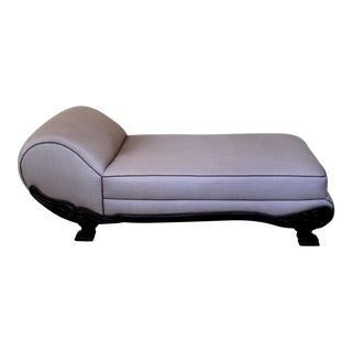Vintage Neoclassical Style Chaise For Sale