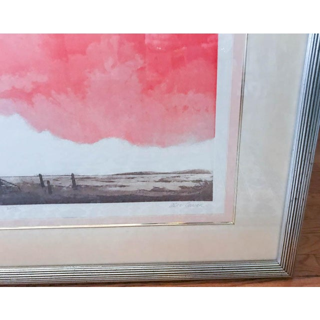 Orange Mid Century Original Artwork by Listed Artist Alec Cowan, Laguna Channel For Sale - Image 8 of 9
