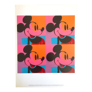 "Andy Warhol Foundation Rare 1995 Lithograph Print Pop Art Poster "" Mickey Mouse "" 1981"