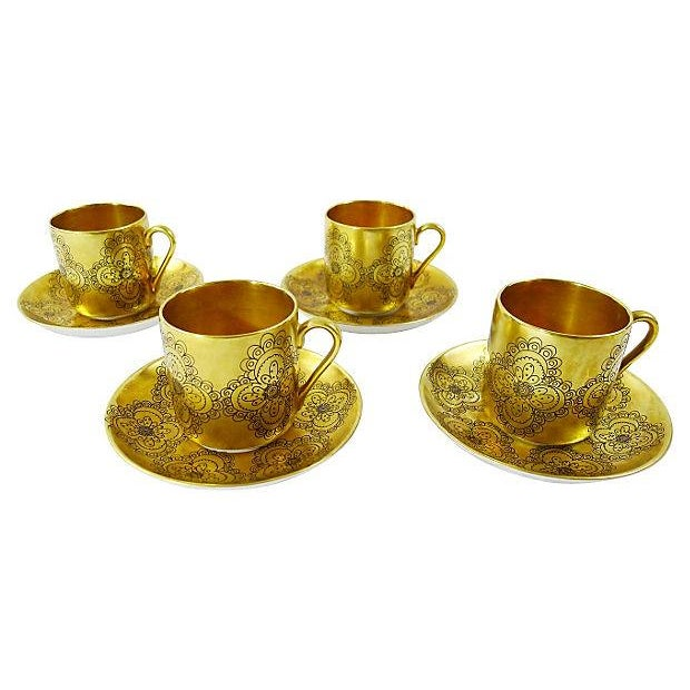 "Vintage Arabia Porcelain ""Gilda"" Demitasse / Saucers - Set 4 - Image 1 of 6"