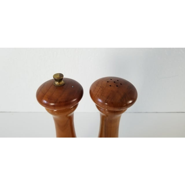Italian Mid-Century Danish Salt and Pepper Shakers a Pair For Sale - Image 4 of 8
