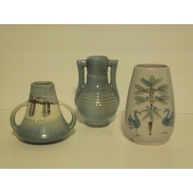 Vintage Aqua Colored Vases - Set of 3 - Image 3 of 11