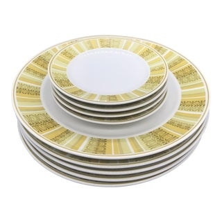 1960s Boho Chic Franciscan Whitestone Antigua Dinnerware - 8 Pieces For Sale