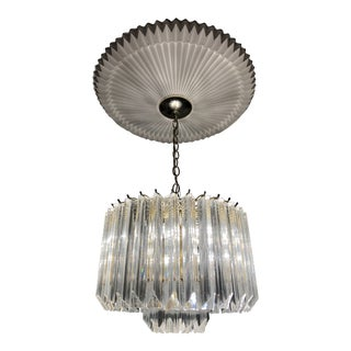 1960s Mid Century Modern Lucite and Acrylic Chandelier