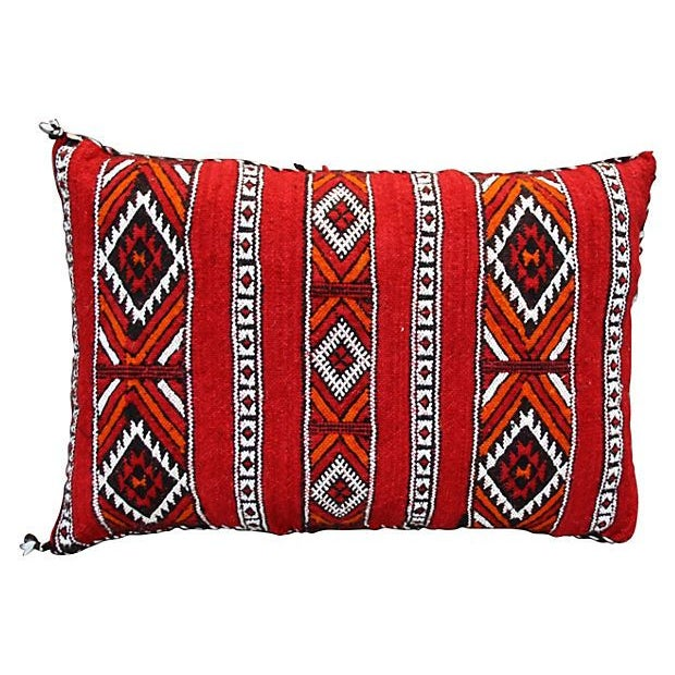 Moroccan Berber Red Diamonds Sham - Image 1 of 2