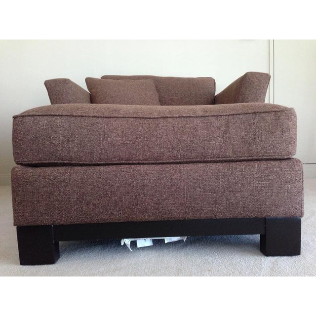 Jonathan Louis Kenton Contemporary Upholstered Armchair & Ottoman For Sale - Image 5 of 8