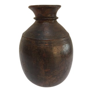 Hand-Carved African Tuareg Tribal Wooden Milk Jug