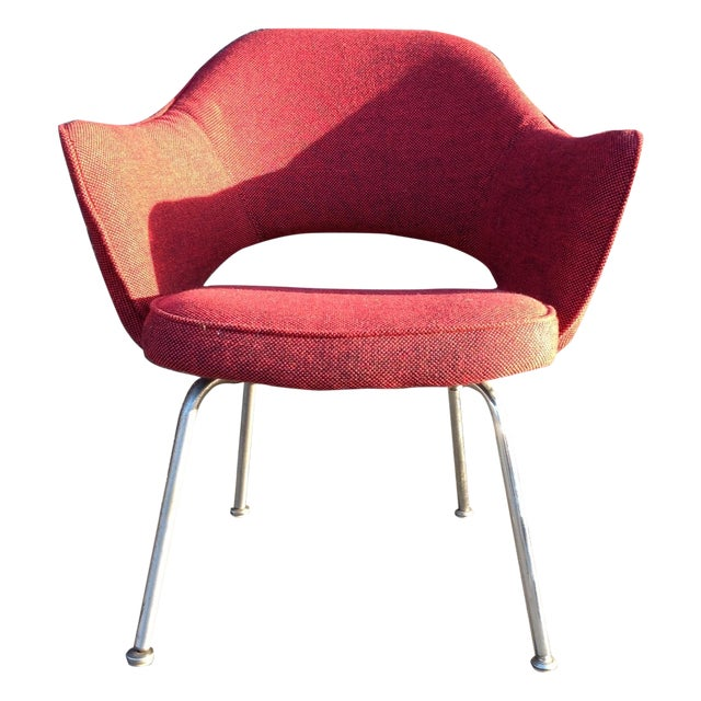 Eero Sarrinen Red Executive Chair - Image 1 of 5