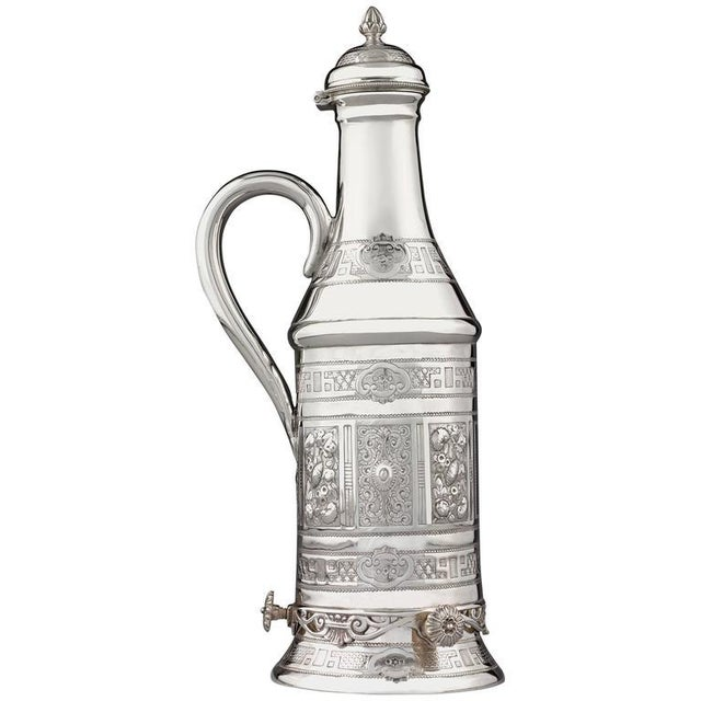 Victorian Silverplate Wine Bottle Holder For Sale - Image 4 of 4