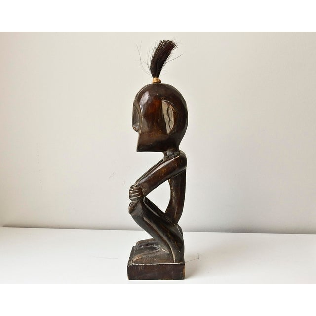 African Hand Carved Wood Man Figure - Image 3 of 6