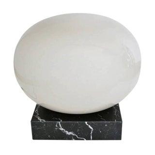 Murano Globe Floor Lamp on Black Marble Base For Sale