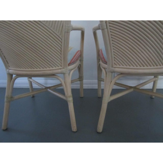 McGuire Vintage Hollywood Regency Bamboo Dining Set For Sale - Image 12 of 13