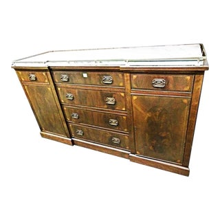 Antique Sheraton Mahogany Inlaid Sideboard For Sale