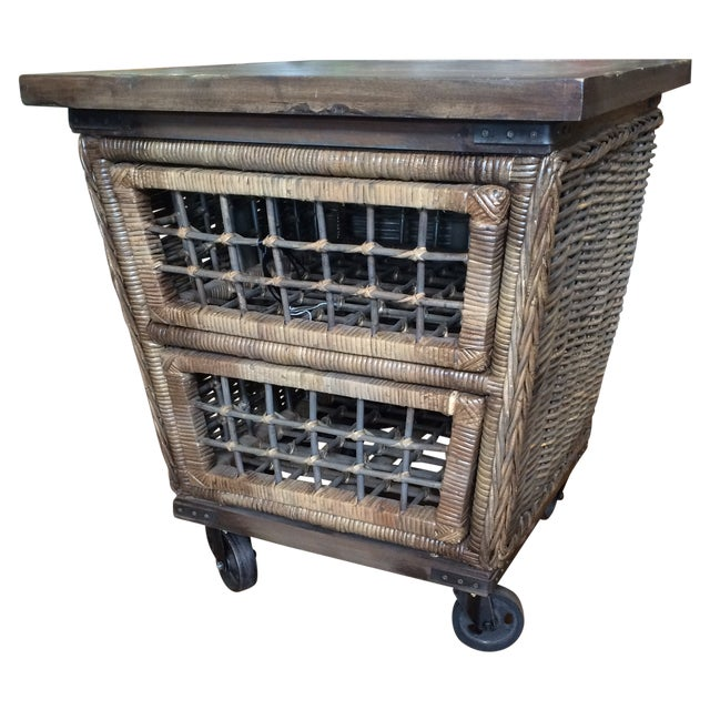 Wicker Moveable Bedside Table - Image 1 of 11