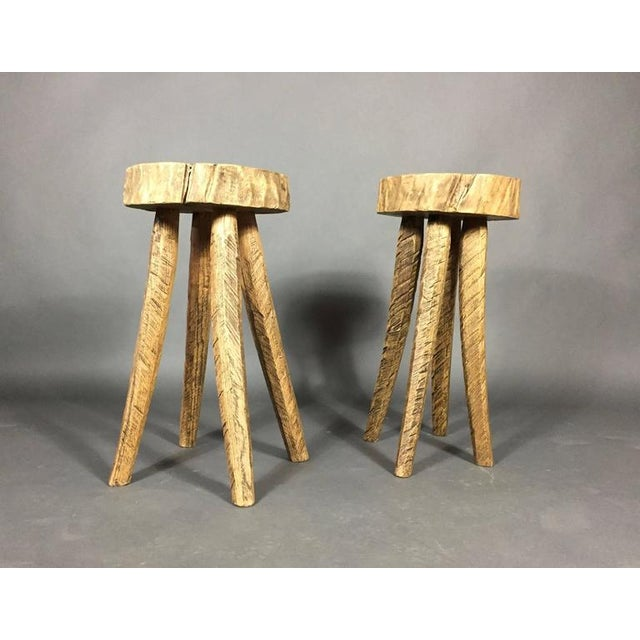 """Wood """"Mend"""" Stool in Box Elder and Copper, Daniel Oates, USA For Sale - Image 7 of 7"""
