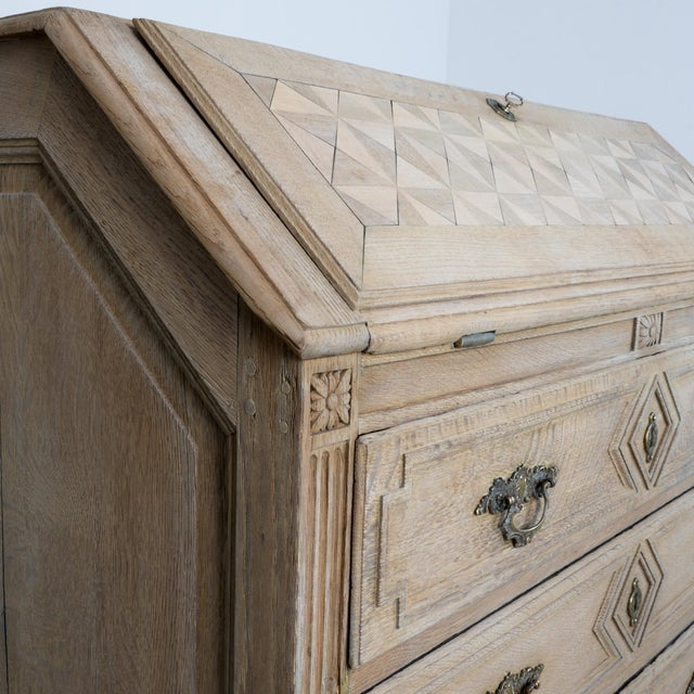 Tan 1860s French Secretary Cabinet For Sale - Image 8 of 10