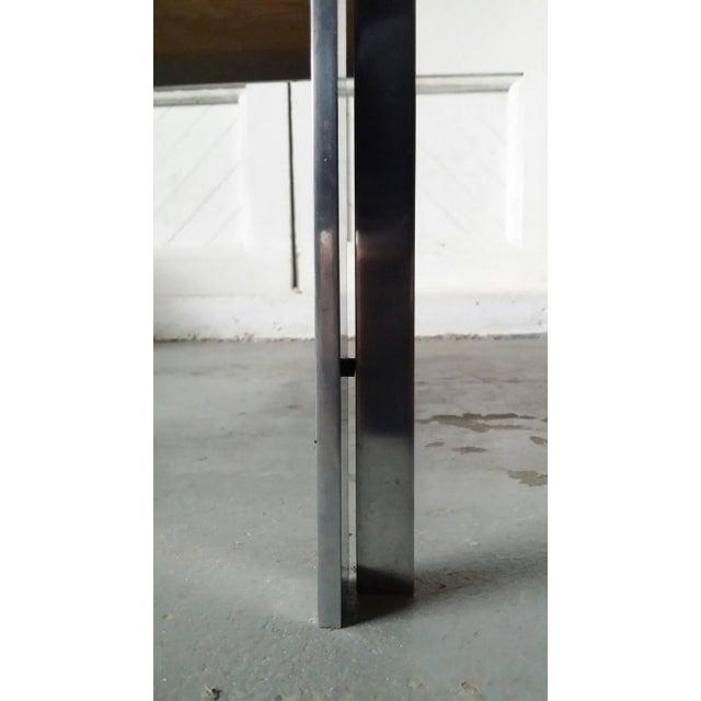 "1970s Rare Poul Kjaerholm Pk55 ""Variant"" Table For Sale - Image 5 of 6"