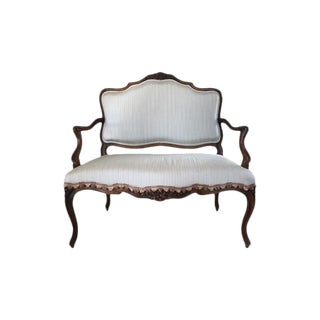 19th Century Louis XV Style Upholstered Settee For Sale