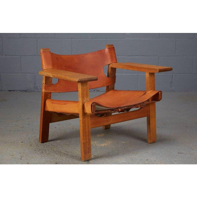 Pair of Spanish Chairs by Børge Mogensen for Fredericia Furniture For Sale In Boston - Image 6 of 12