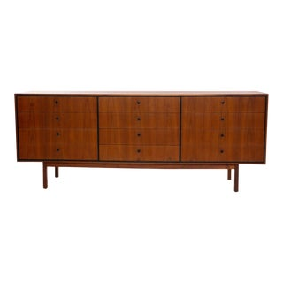 Milo Baughman Glenn of California Walnut 12 Drawer Dresser For Sale