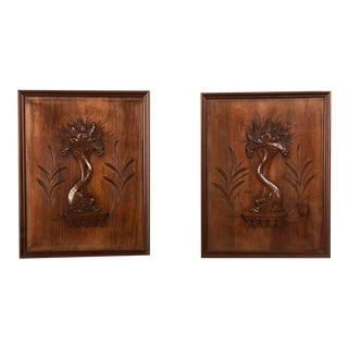 1900s French Walnut Panels - a Pair For Sale