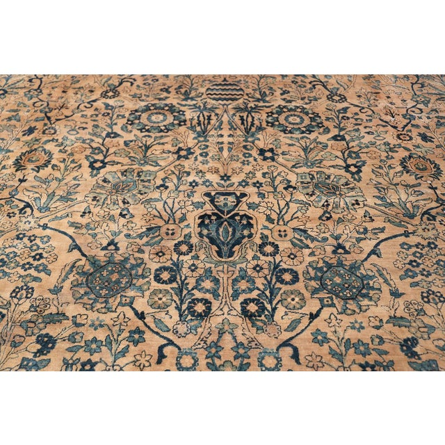 Antique Persian Kerman Oversized Vase Design Carpet - 13′6″ × 25′5″ For Sale - Image 11 of 13