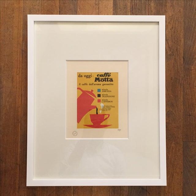 1961 Vintage Advertising Print Caffe Motta - Image 2 of 5