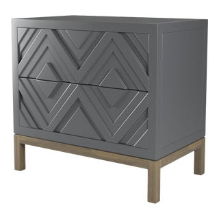 Susana Side Table - Cheating Heart Charcoal, Weathered Gray Oak For Sale
