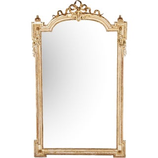 Mid 19th Century Large French Gold Ribbon Mirror For Sale